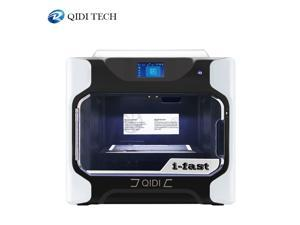 QIDI TECH i-fast 3D Printer Large Size 330*250*320mm dual extruder with extra a set of High temperature extruder PC Nylon Carbon fiber