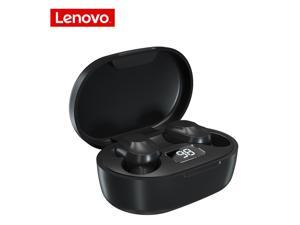 Lenovo XT91 Wireless Bluetooth 5.0 Earphone Touch Button Headset Stereo Sports Earbuds with 300mAh Charging Box LED Battery Indicator (Black)