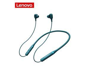 Lenovo XE66 Neckband Headphones Waterproof Sports Earbuds Bluetooth Wireless Earphones with Microphone Noise Cancelling Headset (Green)