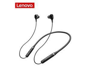 Wireless Earphones Bluetooth 5.0 Lenovo XE66 Neckband Headphones Waterproof Sport Earphones Noise Cancelling Headphones (Black)