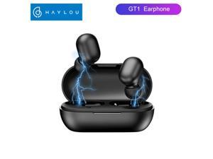 Haylou GT1 Wireless Earbuds Bluetooth 5.0 Sports HD Stereo Touch Control Earbuds with IPX5 Waterproof/Fast Connection/Mini Case(Only 30g)/Total 12H Playtime (Obsidian Black)