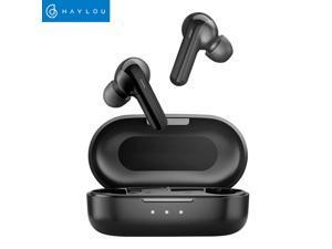 Haylou GT3 True Wireless Earbuds DSP Noise Reduction Bluetooth 5.0 Headphones Smart Touch Control IPX4 Waterproof Binaural Design USB-C 600mAh Charging Case (Black)