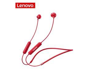 Wireless Earphones Bluetooth 5.0 Lenovo Bluetooth Headphones SH1 Noise Reduction / IPX5 Waterproof Earbuds / Magnetic Neckband Running Sports Headset (Red)