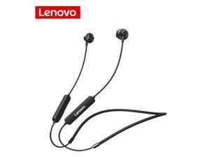Wireless Earphones Bluetooth 5.0 Lenovo Bluetooth Headphones SH1 Noise Reduction / IPX5 Waterproof Earbuds / Magnetic Neckband Running Sports Headset (Black)