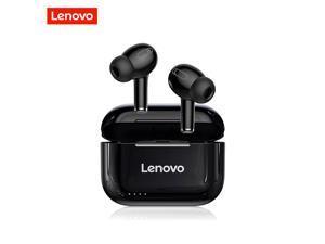 Lenovo LP1S TWS Earbuds Bluetooth 5.0 True Wireless Headphones Touch Control Sport Headset IPX4 Sweatproof In-ear Earphones with Mic 250mAh Charging Case (Black)