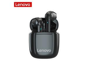 Lenovo XT89 True Wireless Earphones Bluetooth Headset Touch Control Waterproof Sports Gaming Earbuds Stereo Bass HD Audio Noise Cancelling Headphones with Mic (Black)