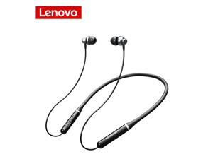 Lenovo Wireless Headphones XE05 Pro Bluetooth 5.0 Magnetic Neckband Headset Noise Cancelling Earbuds IPX5 Waterproof Sports Earphones with Mic (Black)
