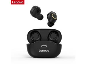Lenovo X18 TWS Wireless Headset Bluetooth 5.0 Earphones IPX4 Waterproof Sports In-ear Earbuds Touch Control Headphones with Mic Siri Voice Assistant Support Fast Charging (Black)