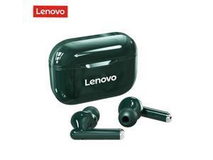 Lenovo LP1 TWS Earbuds Bluetooth 5.0 True Wireless Headphones Touch Control Sport Sweatproof Headset 300mAh Charging Box HIFI Stereo Sound Earphones with Mic (Green)