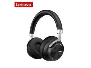 Lenovo HD800 Bluetooth Gaming Headset Stereo Heavy Bass Wireless Foldable Computer Headphone Noise Cancelling Sports Running Head-Mounted Earphone (Black)