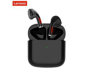 Lenovo TW50 TWS Earphones Bluetooth 5.0 True Wireless Headset Semi-in-ear Sports Earbuds HIFI Noise Canceling Touch Control Gaming Headphones with Mic (Black)
