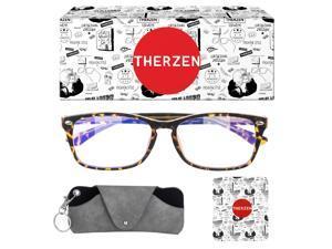 Blue light blocking glasses ,Customizable Eyeglasses Frames prescription glasses For Men Women(0°-600°myopia glasses)
