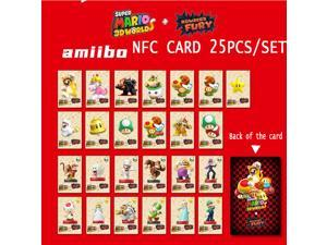 New Release 2021 25Pcs/set Super Mario 3D Worlds + Bowser's Fury Series Amiibo Tag NFC Card Mini Cards For Nintendo Switch NS WII U
