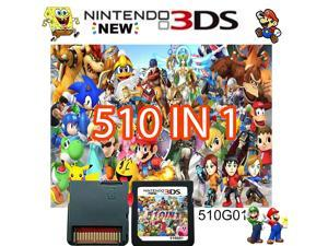 510 in 1 Game Cartridge,Nintendo DS Games Card,Compatible with Super Combo,NDSL,NDSi,NDSi LL/XL,3DS,3DSLL/XL,New 3DS,New 3DS LL/XL,2DS,New 2DS LL/XL