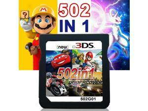 502 in 1 Game Cartridge, DS Game Pack Card Compilations, 64G Memory Card Super Combo Multicart for Nintendo DS, NDSL, NDSi, NDSi LL/XL, 3DS, 3DSLL/XL, New 3DS, New 3DS LL/XL, 2DS, New 2DS LL/XL
