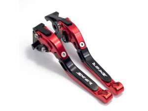 Folding Brake Clutch Levers For ZX636R / ZX6RR 2005-2006 Motorcycle Aluminum Extendable Levers Accessories(Red+Black)