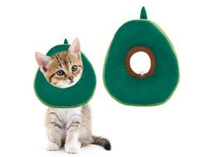 Cat Recovery Collar, Soft Cute Neck Cone After Surgery, Adjustable Cat E Collar Surgery Recovery Elizabethan Collars for Kitten and Cats