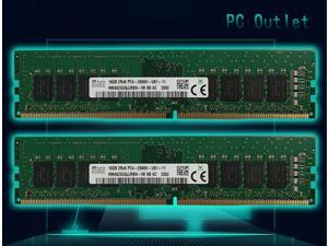 SK Hynix 32GB(2X16GB) HMA82GU6JJR8N-VK DDR4-2666MHz PC4-21300  288-pin UDIMM ram memory 1.2V