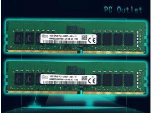 32GB (2X16GB) Hynix HMA82GU6AFR8N-UH2400MHz DDR4 Desktop PC RAM PC4 19200 2400T Memory 288pin DIMM