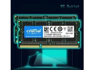 crucial Laptop Ram 16GB (8GB x2) DDR3-1600 PC3-12800 CT102464BF160B.M16FN SODIMM Memory 204pin 1.35V