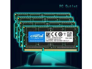 crucial Laptop Ram 32GB(8GB x4) DDR3-1600 PC3-12800 CT102464BF160B.M16FN SODIMM Memory 204pin 1.35V