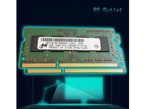 Micron 4GB(2X2GB) DDR3 SODIMM PC3-10600S 1.5V 204 Pin  Laptop Memory RAM 1 RANK MT8JS25664HZ-1G4D1