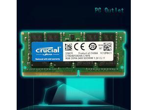 Crucial 8 GB DDR4 2400 LAPTOP RAM PC4 19200 SODIMM Laptop Memory 260-PIN CL19 CT8G4SFD824A.C16FE