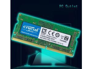 CRUCIAL 4GB DDR4- 2666 SODIMM PC4-21300 260-PIN CL19 MEMORY RAM LAPTOP  CT4G4SFS8266.C8FD1