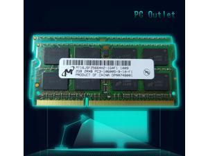 Micron 4GB(2X2GB) PC3-10600S SODIMM DDR3 1333MHz CL9 PIN-204 Laptop RAM Memory MT16JSF25664HZ-1G4F1