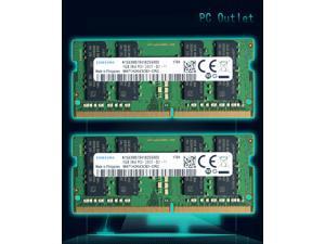 Samsung 32GB(2X16GB) M471A2K43CB1-CRC 2Rx8 DDR4 2400MHz LAPTOP SODIMM Notebook/Laptop Memory