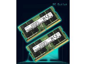 Samsung 64GB (2X32GB) PC4-2666V SODIMM DDR4-2666MHz 260 Pin PC4-21300 Laptop Memory M471A4G43MB1
