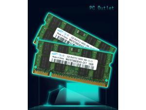 New 4GB(2X2GB) Samsung M470T5663EH3-CF7 2Rx8 PC2-6400 DDR2 800Mhz 200pin SO-DIMM Laptop Memory