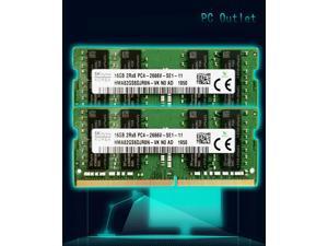 Hynix 32GB(2X16GB) HMA82GS6DJR8N-VK 2666MHz DDR4 RAM is SODIMM PC4-21300 Mac Mini iMac Memory