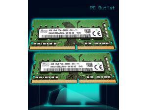 SK Hynix 16GB(2X8GB) DDR4-21300 SODIMM PC4-2666V-SA1-11 Laptop RAM Memory Stick Module HMA81GSJJR8N-VK