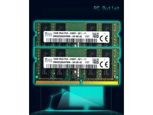 Hynix 32GB(2X16GB) DDR4 2400MHz PC4-19200 PC4-2400T Laptop SODIMM RAM Memory 260-pin  HMA82GS6AFR8N-UH