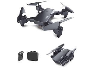 Drone with 4K Dual Camera Long Flight time, One Key Return, Altitude Holding and Headless Mode Foldable Drone FPV Wifi Quadcopter with Portable Bag