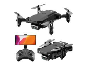 Foldable Drone with 4K HD Dual Camera Professional FPV 360 ° Turns Quadcopter with Headless Mode WiFi Black