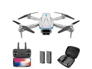 Drone with 4K HD Single camera FPV WiFi 360 ° Foldable Professional Quadcopter with Headless Mode for Drone Beginner Gray