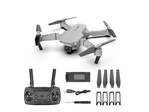 Foldable Drone with 4K HD Single camera Professional FPV 360 ° Turns Quadcopter with Headless Mode WiFi Gray 150M