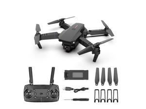 Foldable Drone with 4K HD Single camera Professional FPV 360 ° Turns Quadcopter with Headless Mode WiFi Black 150M
