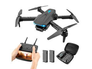 Drone with 4K HD Single camera FPV WiFi 360 ° Foldable Professional Quadcopter with Headless Mode for Drone Beginner Black