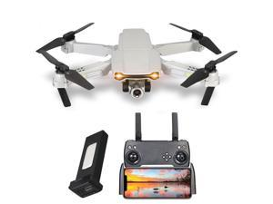 Drone with 4K single camera Mini Foldable Dron FPV Wifi Altitude Holding and Headless Mode Professional Quadcopter with Portable Bag for Drone Beginner Gray