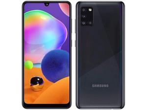 """Samsung Galaxy A31- A315G/DS, 128GB + 6GB, 6.4"""" FHD+, Quad Camera, 5000mAh Battery, Dual SIM GSM Unlocked US + Global 4G LTE International Model - No Warranty - Prism Crush Black"""