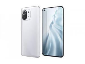 "Xiaomi Mi 11 5G, 6.81"" WQHD+ AMOLED DotDisplay, 256GB + 8GB RAM, 108MP Triple Camera, Qualcomm® Snapdragon™ 888, Harman Kardon Speakers, International Version - Cloud White"