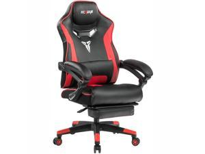 KCREAM Gaming Chair Ergonomic Chair Computer Chair With Footrest,Racing Style PU Leather High Back Adjustable Swivel Task Chair With Build-in Lumbar Support