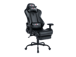 KCREAM Gaming Chair Ergonomic Chair Computer Chair With Lumbar Support,Racing Style PU Leather Adjustable Swivel Big And Tall Chair With Retractable Footrest