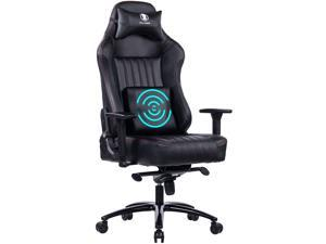 KILLABEE Big and Tall 400lb Gaming Chair Racing Office Ergonomic Chair,Memory Foam 3D Arms High-Back Computer Chair With Lumbar Support And Metal Base