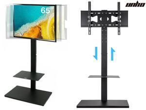 """UNHO Universal Swivel Floor TV Stand with Mount Height Adjustable for Most 32 -65"""" TV"""