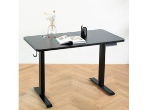 Elived Height Adjustable Standing Desk 47x24 Inch Electric Sit Stand Desk with Dual Motors