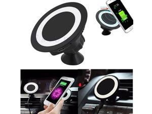 Qi Wireless Car Charger Dock Charging Pad 360° Phone Micro Suction Mount Holder - Black (black)
